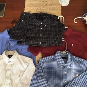 Polo (4 shirts) and Southern Marsh (1) total of 5